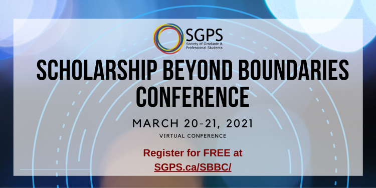 Graphic for the Scholarship Beyond Boundaries Virtual Conference March 20-21, 2021